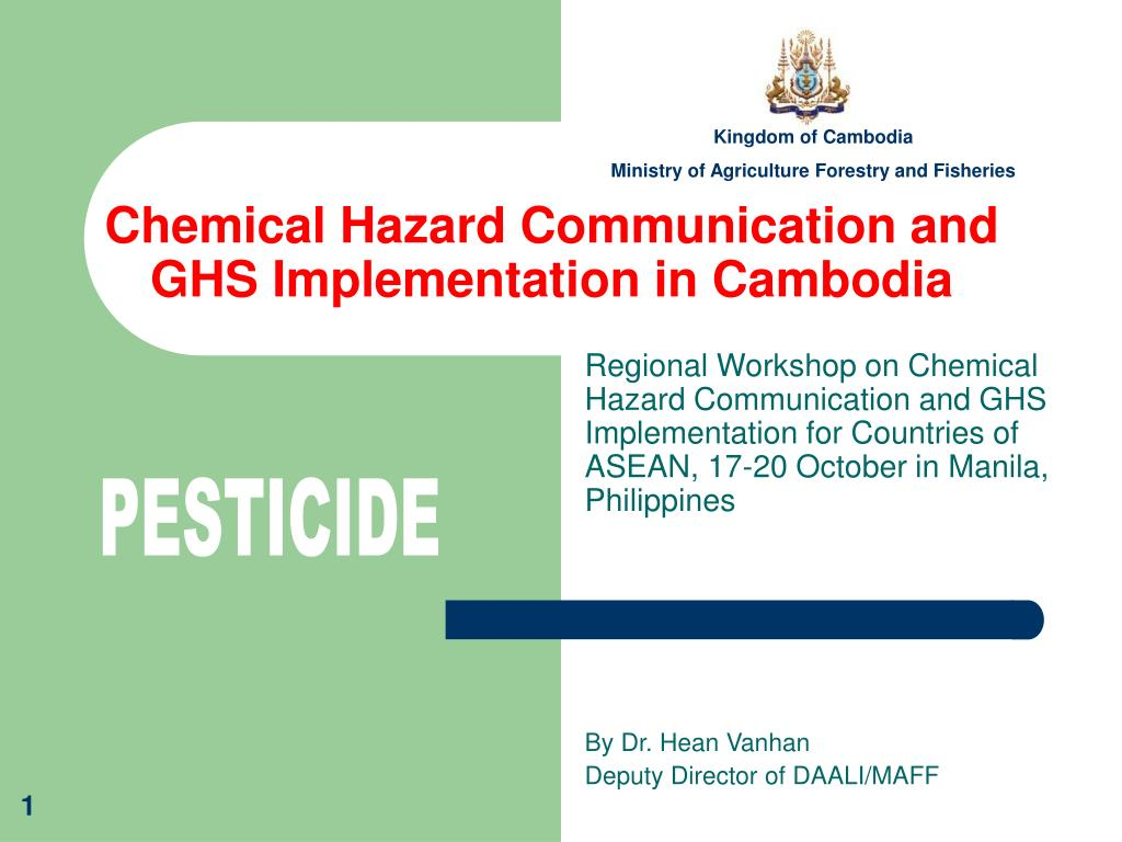 chemical hazard communication and ghs implementation in cambodia l.
