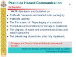 pesticide hazard communication by regulation