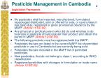 pesticide management in cambodia legislation framework