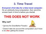 3 time travel