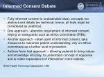informed consent debate1