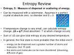 entropy review