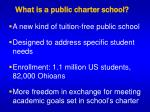 what is a public charter school