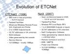 evolution of etcnet1