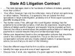 state ag litigation contract