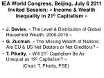 iea world congress beijing july 6 2011 invited session income wealth inequality in 21 c capitalism