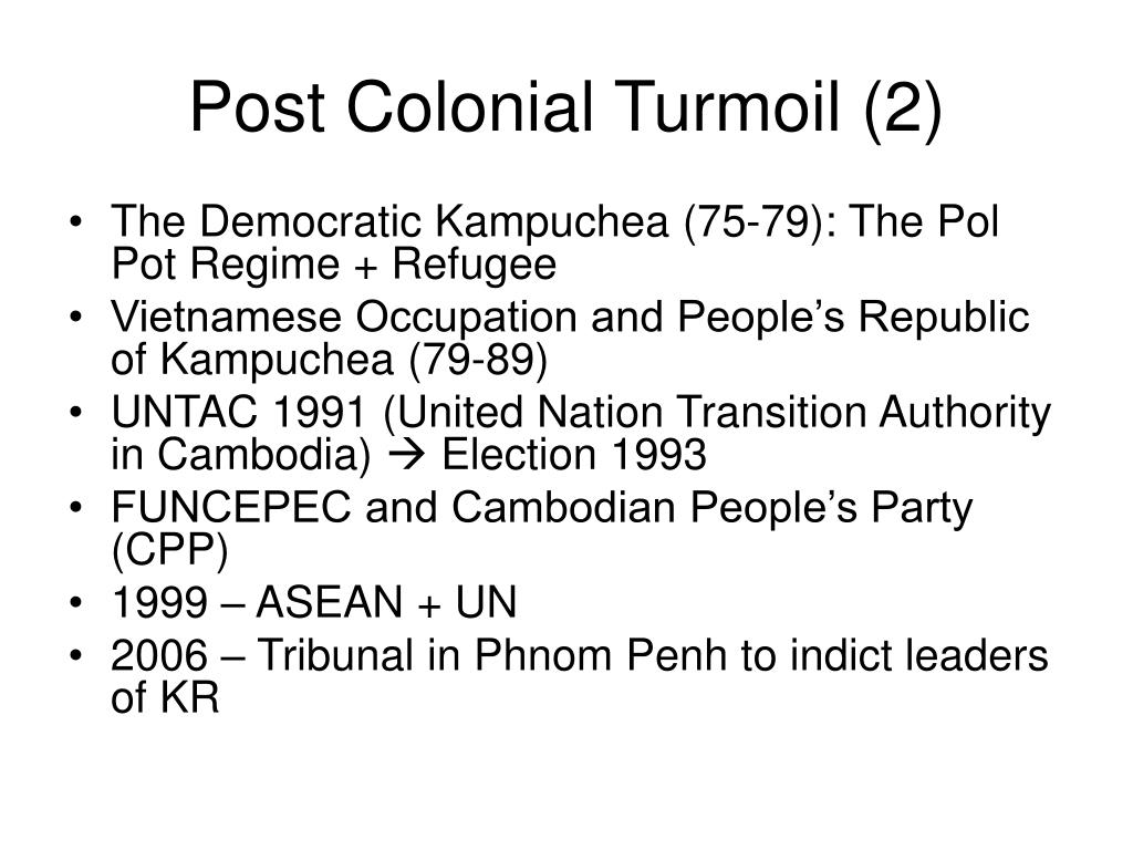 Post Colonial Turmoil (2)