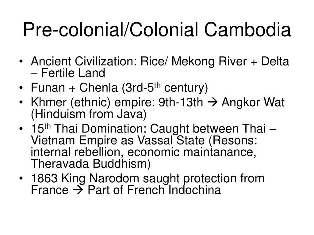 Pre-colonial/Colonial Cambodia