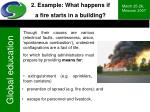2 example what happens if a fire starts in a building