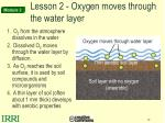 lesson 2 oxygen moves through the water layer