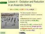 lesson 4 oxidation and reduction in an anaerobic setting