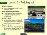 lesson 6 puddling soil