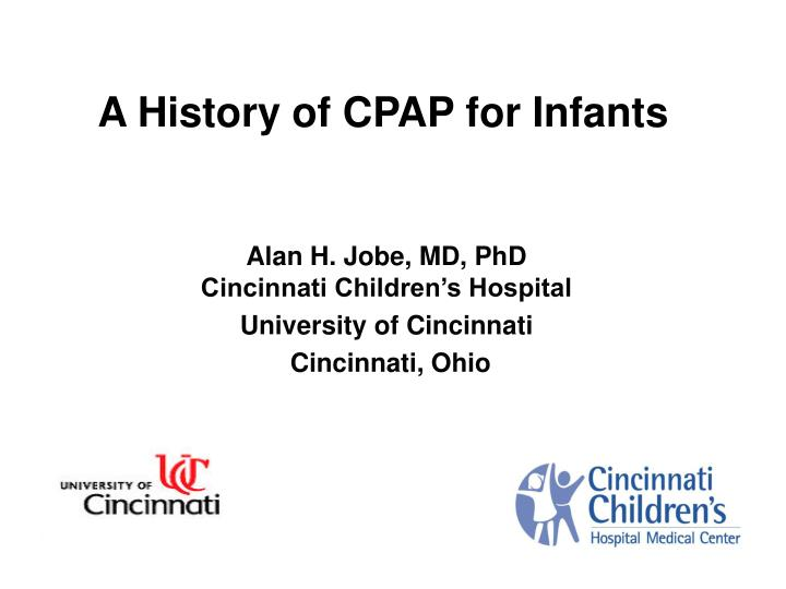 a history of cpap for infants n.