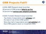 crm projects fail