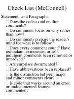 check list mcconnell1
