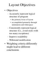 layout objectives