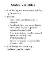 status variables