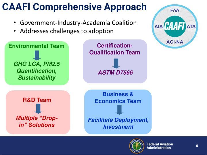 CAAFI Comprehensive Approach