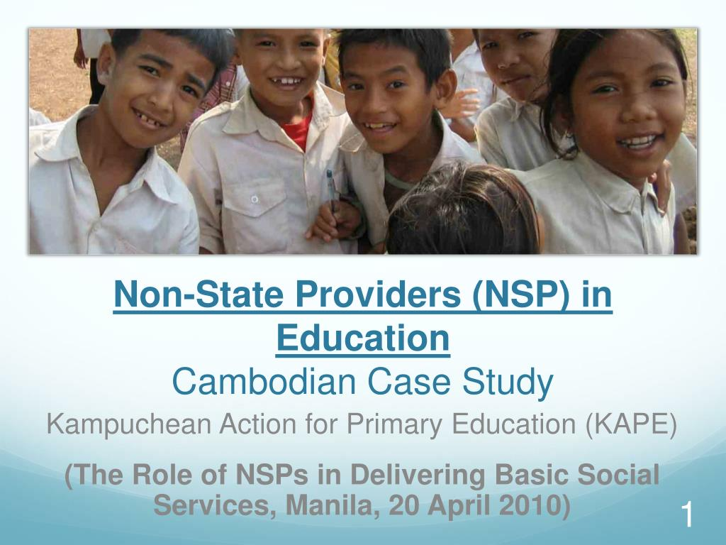 non state providers nsp in education cambodian case study