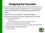 designing the executive