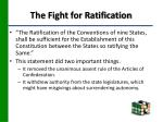 the fight for ratification