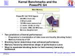 kernel benchmarks and the powerpc g4