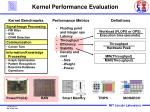 kernel performance evaluation