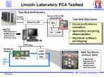 lincoln laboratory pca testbed