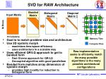 svd for raw architecture