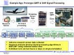 example app prototype gmti sar signal processing