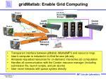 gridmatlab enable grid computing