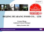 beijing huabang food co ltd george zheng assistant general manager