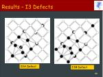 results i3 defects