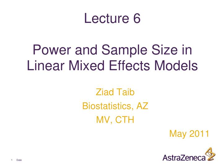 lecture 6 power and sample size in linear mixed effects models n.