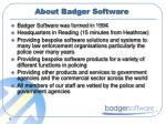 about badger software