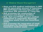 8 medical waste management