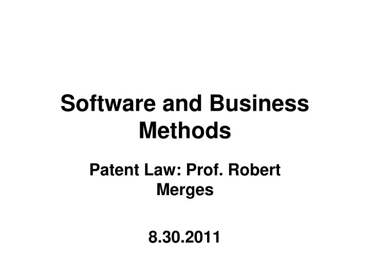 software and business methods n.