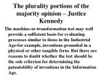 the plurality portions of the majority opinion justice kennedy