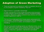 adoption of green marketing