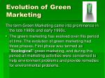 evolution of green marketing