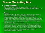 green marketing mix