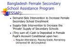 bangladesh female secondary school assistance program fssap