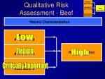 qualitative risk assessment beef
