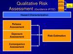 qualitative risk assessment guidance 152