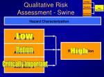 qualitative risk assessment swine