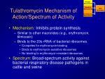 tulathromycin mechanism of action spectrum of activity