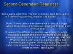 second generation readiness