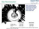 disc reconstruction