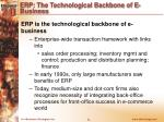 erp the technological backbone of e business1