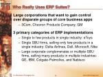 who really uses erp suites